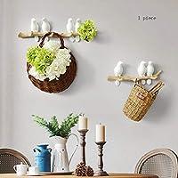 Mu Wooden Household Hangers, Wall Hangers,Resin Simple European Three-Dimensional Bird Hooks Creative Entrance Door Wall Decoration Clothes Hook Key Holder,Wall Door Back Coat Rack