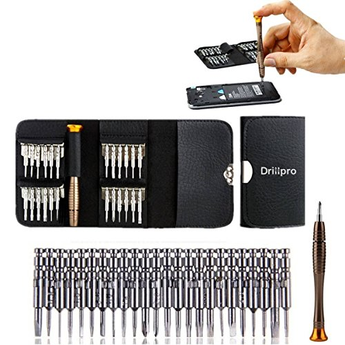 Amazon.co.uk - 25 in 1 Screwdriver Set Precision Screwdriver Wallet Kit Repair Tools