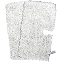 Mop Pads Washable Microfiber Cleaning Pads Replacement for Shark Steam Pocket Mops S3500 series, S3501, S3601, S3550, S3901, S3801, SE450 2-Pack (White)