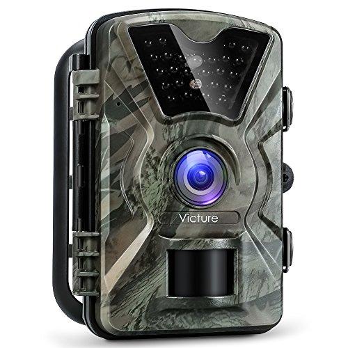 """Produktbild Victure Wildkamera Fotofalle 1080P Full HD 12MP Jagd Wildkamera Weitwinkel Vision Infrarote 20m Nachtsicht Wasserdichte IP66 Überwachungskamera mit 2.4""""LCD Display für Garten,Überwachung von Eigentum"""