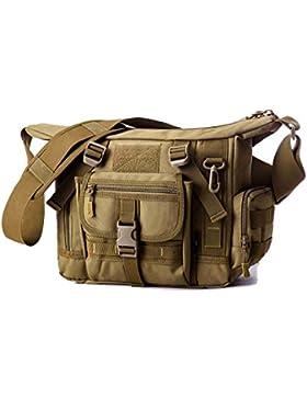 Nylon Outdoor Wasserdichte Kuriertasche Molle Multi-Taschen Reißverschluss Tasche Crossbody Casual LaptopTasche