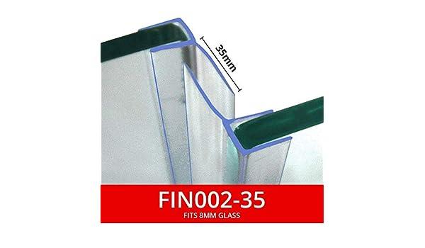 Compatible avec verre de 8 mm Utilis/és sur les /écrans ou les portes Longueur : 2 m Transparent ou chrom/é Vendus par paire Joints de douche verticaux Palmes arri/ère de 15 ou 25 mm FIN002
