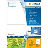 Herma 10829 Etiketten (A4 RecyclingPapier matt mit Blauem Engel-Zertifikat, 105 x 148 mm) 400 Stück naturweiß