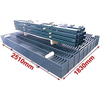 Doppelstab-Mattenzaun Komplett-Set / Anthrazit / 183cm hoch / 10m lang / Gartenzaun Metallzaun Zaun Zaunanlage