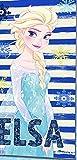 Disney Frozen WD19005 Telo Mare, Spiaggia, Asciugamano, Cotone, Piscina, 70 X 140 Centimetri, Multicolore, Elsa