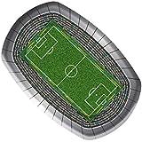 Folat Lot de 8 assiettes en carton « stade de football » pour fêtes et anniversaires