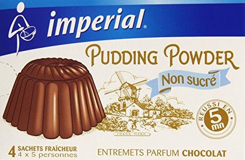Imperial Préparation pour Pudding au Chocolat 4 Sachets de 35 g