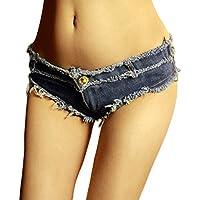 RXL-shorts Pantalones de mezclilla de talle bajo Pantalones cortos de mezclilla Pantalones cortos de mezclilla Pantalones cortos de mezclilla Pantalones cortos Club nocturno Mujeres (Tamaño : S)