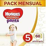 Huggies Ultra Comfort Pañal Braguita Talla 5 (12-17 kg) - Pack de 2 x 34 unidades (Total: 68 pañales braguita)