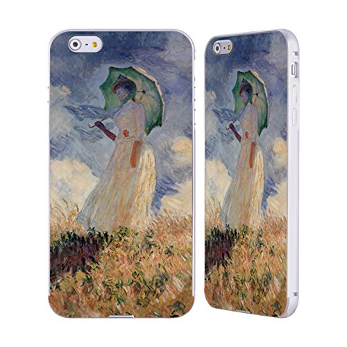 Ufficiale Masters Collection Carnation, Lily, Lily, Rose Dipinti 2 Argento Cover Contorno con Bumper in Alluminio per Apple iPhone 5 / 5s / SE Woman With Parasol