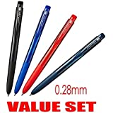 Very smooth, although it is a micro point-Uni-ball Signo RT1 Rubber Grip & Click Retractable Ultra Micro & Extra Fine Point Gel Pens -0.28mm-black,Blue,Red,Blue Black Ink-Each 1 Pen- value Set of 4(With Our Shop Original Product Description)
