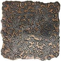 Unbekannt Sello de impresión Desconocido de Madera de Teca, Color Textil Antiguo