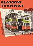Vintage Travel Schottland für Glasgow mit Straßenbahnen &