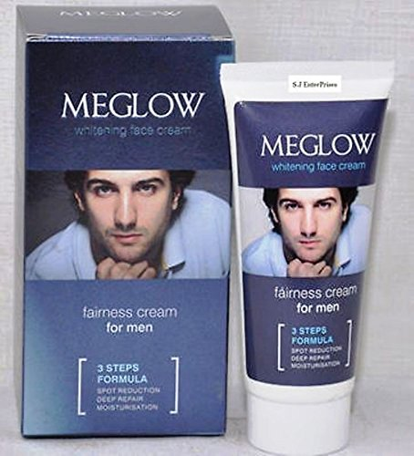 Meglow Men's Face Fairness and Whitening Cream, 50g