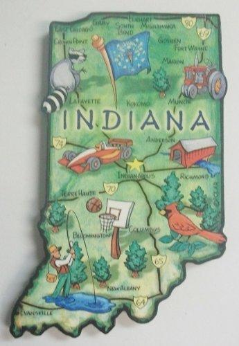 Indiana der Hoosier staatliche Artwood Jumbo Kühlschrankmagnet -