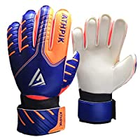 YUKOOL Kids & Youth Soccer Goalkeeper Glove, Junior Indoor & Outdoor Goalie Gloves for Girls and Boys, Durable and Comfortable, Size 5-7, 2 Colors