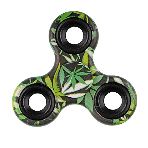Xinruifeng Fidget Spinner Giocattolo EDC Giocattoli Stress Tri-spinner ADHD, ansia sofferenza adulti e bambini . Fidget Spinner Antistress(Bambus Farbe)