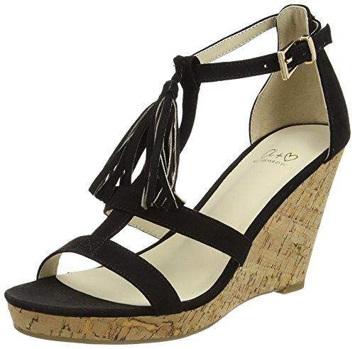 Another Pair of Shoes Wyona K, Sandales femme Noir (black01)