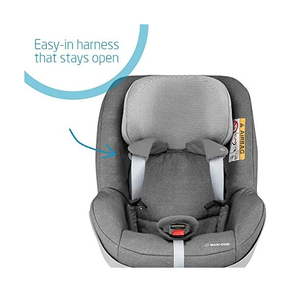Maxi-Cosi Pearl One i-Size Toddler Car Seat Group 1, Rear-Facing Car Seat, ISOFIX, 67-105 cm, 6 Months-4 Years with One i-Size ISOFIX Base, Rearward-Facing Travel, 0 months - 4 years Maxi-Cosi Toddler car seat from 6 months to 4 years (approximately 67 cm - 105 cm) This rearward-facing car seat must be used with the Maxi-Cosi FamilyFix One i-Size ISOFIX base i-Size safety: Rearward-facing travel up to 105 cm for enhanced protection of head and neck 5