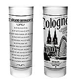 Köln Schnapsgläser   6er Set   Gläser mit Gravur mit dem Kölschen Grundgesetz   Pinnchen bzw. Shotgläser für z.B Obstler, Tequila und Wodka.   Glas 6,5cl   Spülmaschinenfest   MADE IN GERMANY