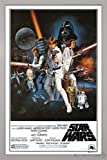 Close Up Star Wars Poster Style 'C' - American (66x96,5 cm) gerahmt in: Rahmen silber
