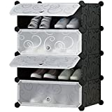 GTC Shoe Rack for Home / Office Use Cube Organizer Wardrobe Shoe Storage Organizer Cabinet with Doors shoe cabinet (49.5 x 37 x 74 ( IT N - SHC001 ))