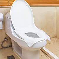 VOOYE 10Pcs/bag Disposable Paper Toilet Seat Covers Travel Biodegradable Sanitary Cushion Potty Protectors Seat Protectors for Travel