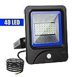 Vorally 20W LED Strahler mit Bewegungsmelder Kaltweiß - IP66 Wasserdicht LED Flutlicht - 2000LM 6500K AC 85-265V [Energieklasse A++] (20)