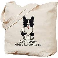 CafePress–Border Collie, Borsa di tela naturale, panno borsa per la spesa - Border Collie Lovers