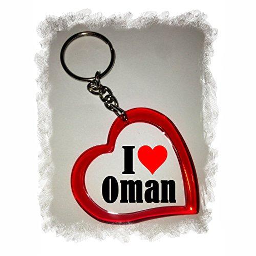 """Preisvergleich Produktbild Exklusive Geschenkidee: Herzschlüsselanhänger """"I Love Oman"""", eine tolle Geschenkidee die von Herzen kommt - Rucksackanhänger- Liebesanhänger- Weihnachts Geschenktipp"""