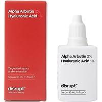 Disrupt 2% Alpha Arbutin 30 ml Serum for Pigmentation & Dark Spots Removal, Anti-Pigmentation Face Serum for Men & Women…
