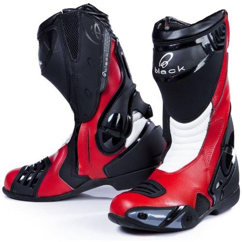 Preisvergleich Produktbild Black Venom - Motorrad-Stiefel - Racing/Sport - Rot - EU44 (UK10)