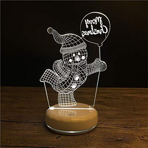 Veilleuse 3D Lampe De Table Usb Recharge Creative Led De Bande Dessinée Lumineuse Veilleuse Veilleuse Lumière 21X17X4Cm 7 Couleurs E