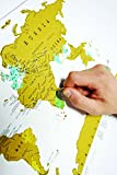 Scratch Map Travel Edition - Travel Sized Personalised World Map Poster, Travel Gift - Luckies of London