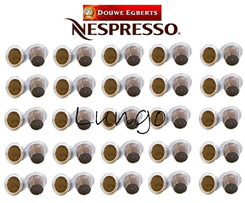 Order Nespresso Compatible, 50 x D.E Lungo Coffee Capsules, Intensity 6, Sold Loose by Douwe Egberts