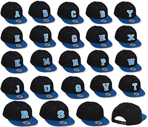 Bonnet Chapeau Casquette Snapback 59 Baseball Cap Alphabet letters A-Z Snap Back (N) T
