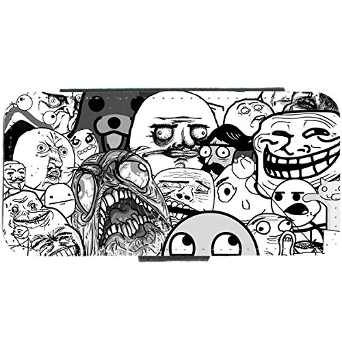 iPhone 5/5S Motif visage groupe Mèmes 4chan troll meme internet Etui portefeuille