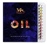La pintura de aceite Set - 24 colores de pintura 12ml Tubes- artista pinta grado para profesionales, principiantes y estudiantes - Ideal para el hogar Arte de pared, murales, lienzo, Paisaje, Retrato y Pintura - Suministros Mozart