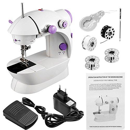 Teaio Nähmaschine für Anfänger Multifunktionen Tragbar Mini Nähmaschine mit Zubehör Kleine Nähmaschine für Kinder, DIY Begeiste