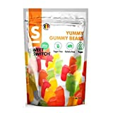 Yummy Gummy Bears - Sweets No Added Sugar Free Vegan Stevia SWEET SWITCH 150g (Pack of 1)