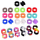 D&Min Jewelry 32er Set Flesh Tunnel Plugs für Körperpiercing 10mm