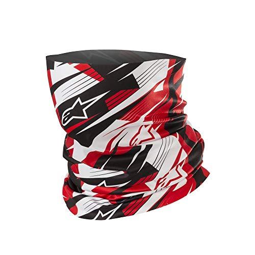 Alpinestars Blurred - Scaldacollo, taglia unica, colore: nero/rosso