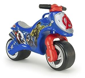 Avengers Marvel Los Vengadores INJUSA-Moto Correpasillos Neox Niños +18 Meses con Decoración Waterproof Permanente y Asa de Transporte, Color Azul/Rojo/Gris 19007/000