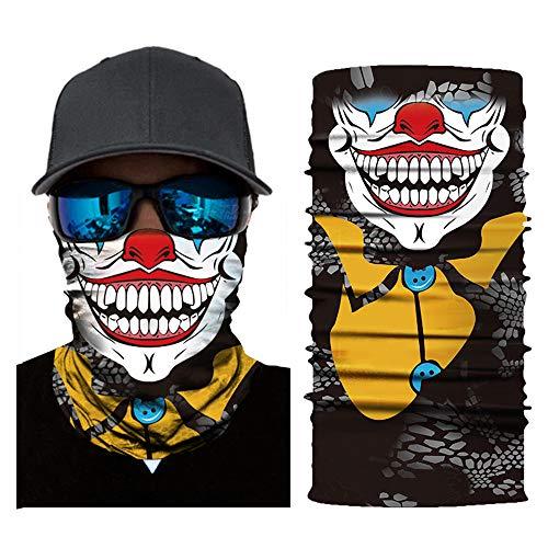 Lixada sciarpa copricapo,passamontagna multifunzionale senza cuciture,maschera scaldacollo scaldacollo bandana,scaldacollo robot skeleton halloween maschera joker, per ciclismo pesca sci motocicletta