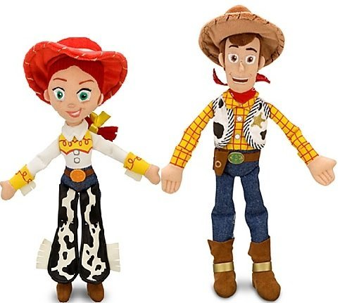 ry JESSIE 16 & WOODY 18 Plush Dolls - Buzz & bullseye friends by Disney ()