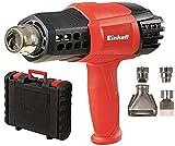 Einhell Heißluftpistole TE-HA 2000 E (2.000 W, 9 Temperaturstufen 50-550°, Luftmengenschalter, Kaltstufe, inkl. umfangreiches Düsenzubehör & Koffer)