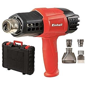 Einhell TE-HA 2000 E – Pack con decapador, 4 boquillas y maletín, interruptor de 3 posiciones, 2000 W, 220-240 V, color rojo y negro