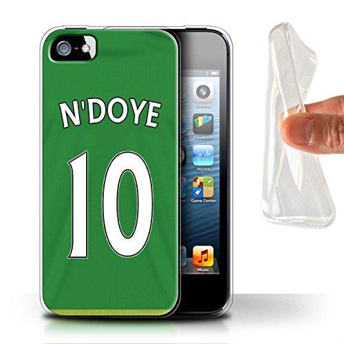Offiziell Sunderland AFC Hülle / Gel TPU Case für Apple iPhone SE / Pack 24pcs Muster / SAFC Trikot Away 15/16 Kollektion N'Doye