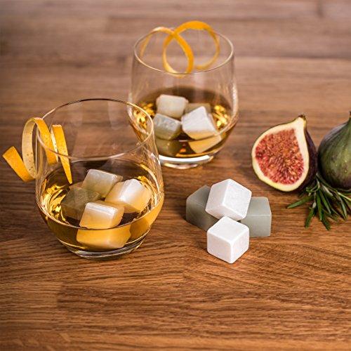 12 Whisky Steine aus Speckstein