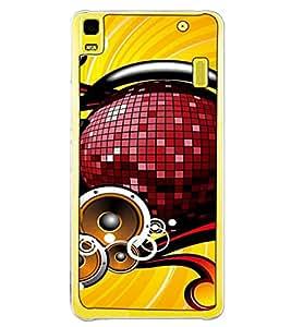 Fuson Designer Back Case Cover for Lenovo A7000 :: Lenovo A7000 Plus :: Lenovo K3 Note (HeadPhone DJ Party Masti India )